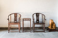 Chinese antique ming style furniture chair made Royalty Free Stock Photo