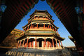 Chinese Architecture Summer Palace Tower foxiangge Royalty Free Stock Photos