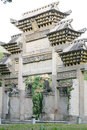 Chinese archway stone decorated in guangzhou city china Royalty Free Stock Images