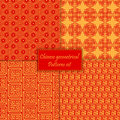 Chinese asian geometrical seamless vector pattern background. Traditional ornament. Royalty Free Stock Photo
