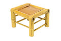 Chinese Bamboo Stool Stock Photo