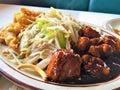 Chinese BBQ Pork Spareribs Dinner Royalty Free Stock Photo