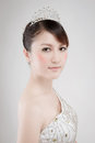 Chinese beauty with professional makeup in photography studio Royalty Free Stock Images