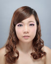 Chinese beauty with professional makeup in photography studio Stock Image