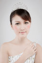 Chinese beauty with professional makeup in photography studio Stock Photos