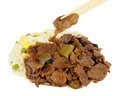 Chinese Beef In Black Bean Sauce Royalty Free Stock Photo