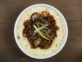 Chinese Beef and Black Bean Stir Fry Meal Royalty Free Stock Photo