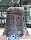 Chinese bell in temple Stock Photography