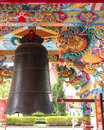 Chinese bell in temple Stock Images
