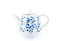 Chinese blue and white porcelain teapot Stock Image
