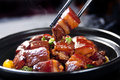 Chinese braised pork belly, dongpo pork Royalty Free Stock Photo