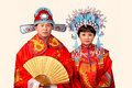 Chinese bride and groom Stock Photography