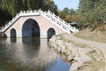 Chinese bridge arch at the park Stock Photography