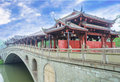 Chinese bridge Royalty Free Stock Photo