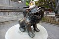 Chinese bronze lion Stock Image