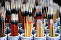 Chinese brush is originated from the tradition of writing instruments Royalty Free Stock Photo