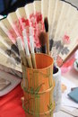 Chinese brushes for painting Royalty Free Stock Photos