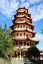 Chinese buddhist Pagoda Sapta Ratna Royalty Free Stock Photo