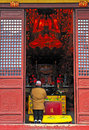 Chinese buddhist shrine Royalty Free Stock Photo