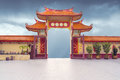 Chinese buddhist temple gate Royalty Free Stock Photo