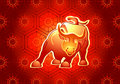 Chinese Bull Stock Image