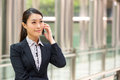 Chinese Businesswoman Outside Office Royalty Free Stock Photo