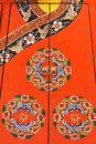 Chinese cabinet door the with traditional garments pattern Royalty Free Stock Image