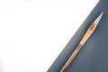 Chinese calligraphy brush for traditional writing. Top view Royalty Free Stock Photo