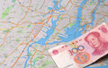 Chinese capital into newyork investment run Royalty Free Stock Photography