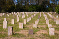 Chinese cemetery historic dating from the gold rush era at beechworth victoria australia Stock Photos