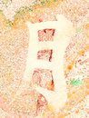 Chinese Character Moon marble background orange Royalty Free Stock Photo