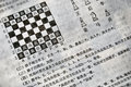 Chinese characters chess instruction printed page Royalty Free Stock Image