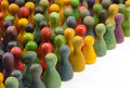 Chinese checkers closeup of many colorful figures Stock Photography