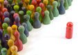 Chinese checkers closeup of many colorful figures Royalty Free Stock Photos