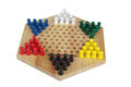 Chinese checkers wooden Royalty Free Stock Images
