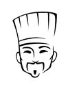 Chinese chef in cartoon style for cafe or restaurant Stock Photo