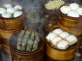 Chinese chengdu snacks in road restaurant。 Royalty Free Stock Images