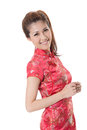 Chinese cheongsam girl Royalty Free Stock Image