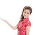 Chinese cheongsam girl Royalty Free Stock Photos