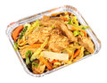 Chinese Chicken Chow Mein Take Away meal Royalty Free Stock Photo