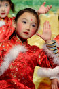 Chinese children dancing Stock Photos