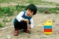 Chinese children playing. Stock Photo