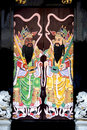 Chinese Clan House Doors Royalty Free Stock Images