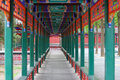 Chinese classic corridor the in the zhongshan park at beijing Stock Photography
