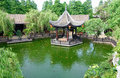 landscaping gazebo Chinese garden Royalty Free Stock Photo