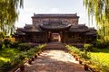 Chinese classical garden building- Fengming College main gate Royalty Free Stock Photo