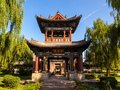 Chinese classical garden building fengming college pavilion taken in the of yuci old city shanxi china the was old style of yuci Stock Photo