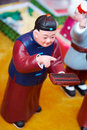 Chinese clay figurine Royalty Free Stock Photo