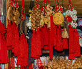 Chinese Colorful Red Souvenirs Yuyuan Shanghai China Royalty Free Stock Photo