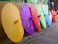 Chinese colour umbrellas Stock Photography